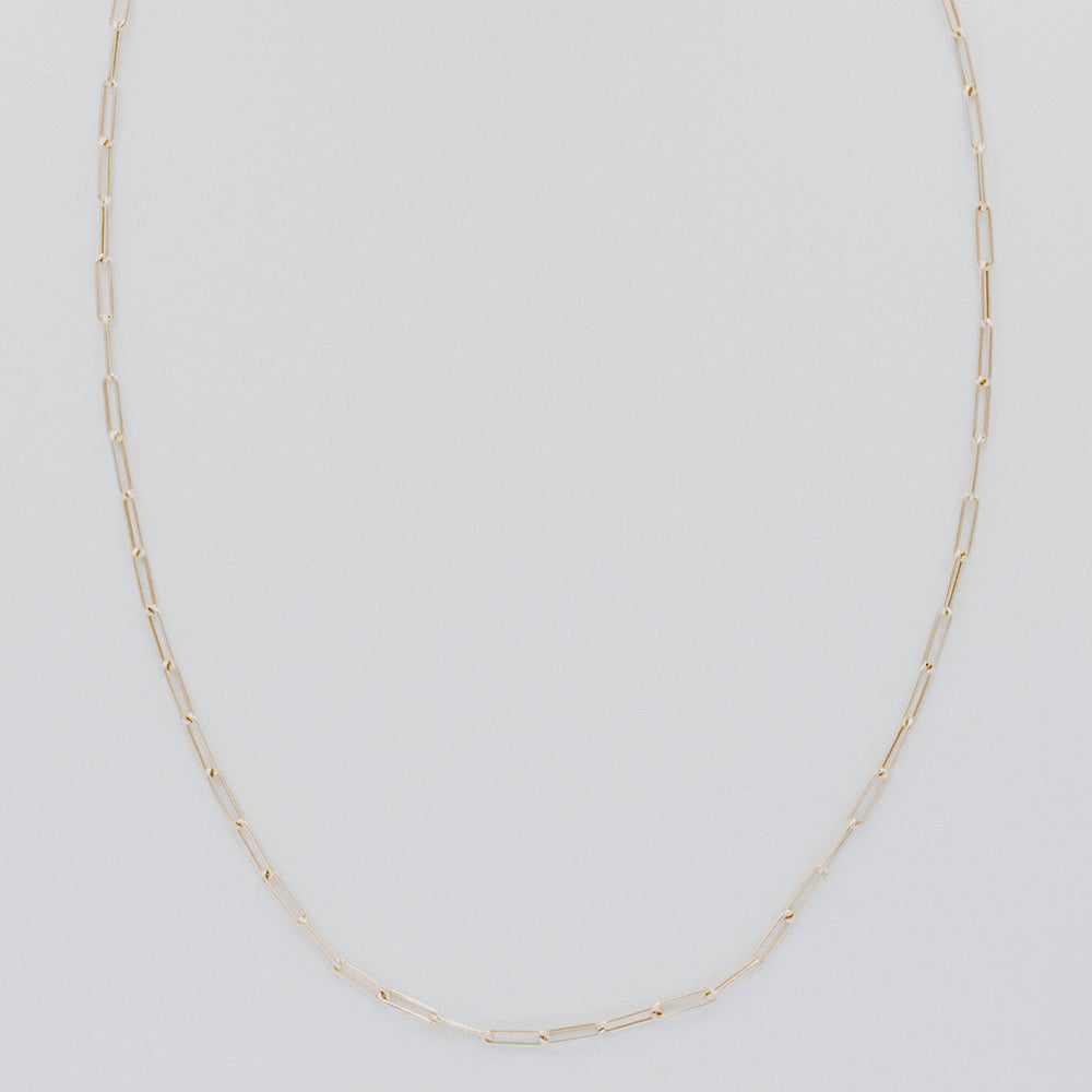 Extra long oval link necklace