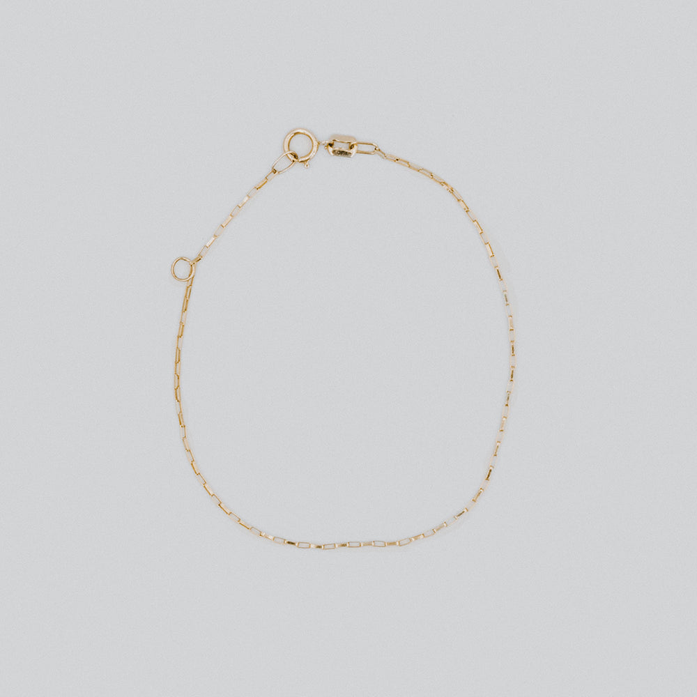 Anklet thin link chain
