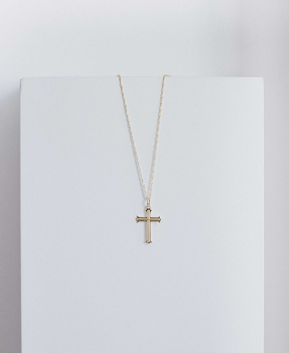 Minimal Cross Pendant