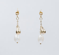 Petite ball pearl earrings