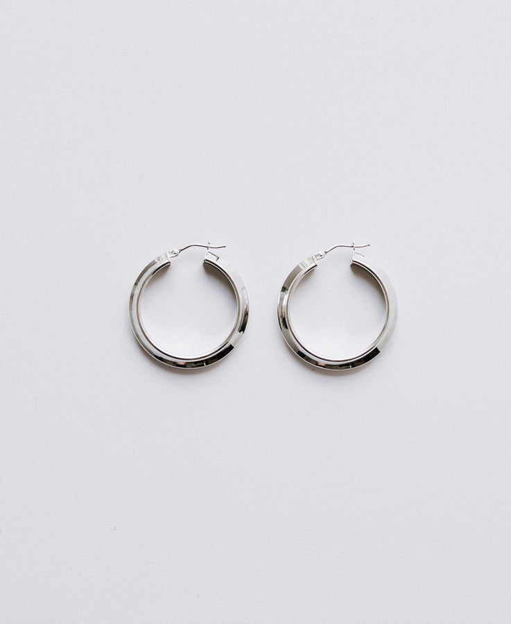 White Classic hoops small