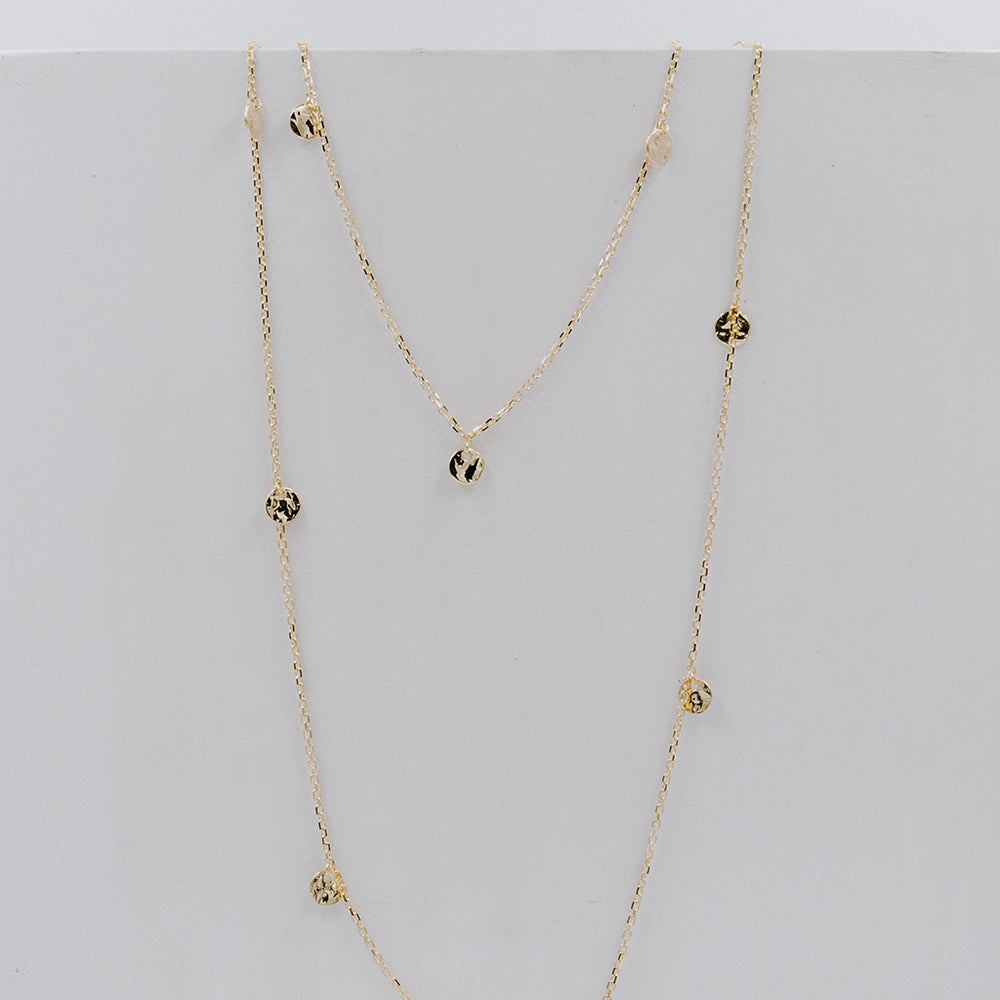 Collar Mini Coins Extra Long