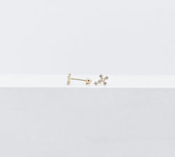 Thin cross crystals studs