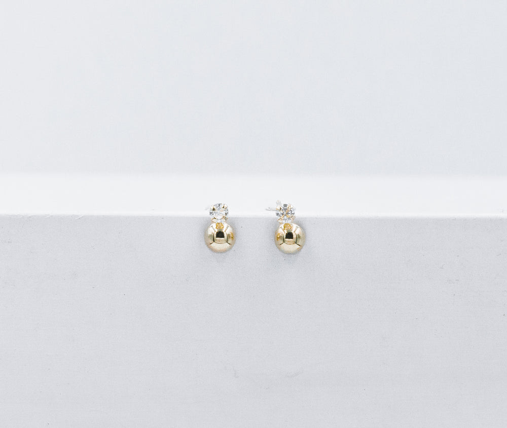 Circle and mini crystal studs