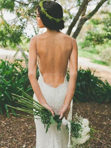 2019 Cheap Custom Elegant Open Back Lace Popular New Arrival Wedding Dress with train , WDY0101