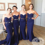 Women Sexy Mermaid Sweet Heart Royal Blue Cheap Long Wedding Party Bridesmaid Dresses,WGY0137