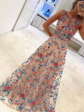 A Line Sleeveless Long Formal Evening Dresses ,Cheap Prom Dresses,PDY0589