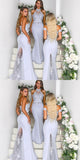 Mermaid High Neck Lace Long Bridesmaid Dresses With Trailing ,Cheap Bridesmaid Dresses,WGY0360