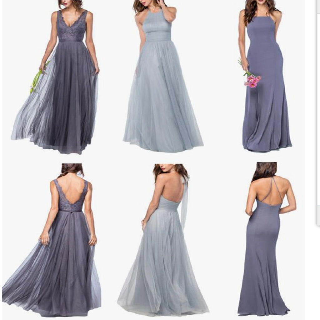Different Styles Chiffon Modern Formal Floor-Length Cheap Bridesmaid Dresses, EPR005