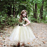 Green Satin Top Tulle Flower Girl Dresses, Cheap Popular Pixie Tutu Dresses,  FGY0124