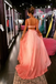 A-line Spaghetti Straps Pink Satin Long Prom Dresses,Cheap Prom Dresses,PDY0514