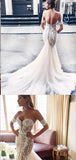 Sweetheart Off-The-Shoulder Mermaid Wedding Dresses ,Cheap Wedding Dresses, WDY0285