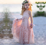 Halter Tulle Flower Girl Dresses, Lovely Tutu Dresses,  FGY0132