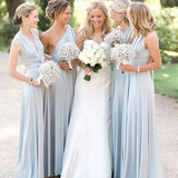 A-line Mismatched Light Blue Bridesmaid Dress,Cheap Bridesmaid Dresses,WGY0430