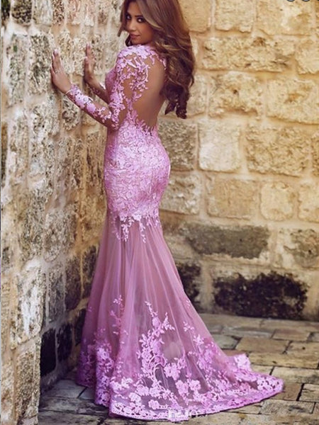 Cheap Purple Long Dress with Sleeves