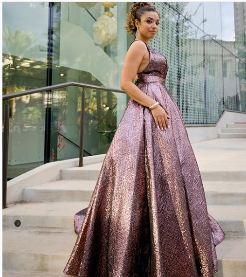 A-line V-neck Chocolate Satin Long Prom Dresses,Cheap Prom Dresses,PDY0458