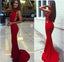 High Neck Sleeveless Elegant Long Mermaid Jersey Prom Dresses, BG0247