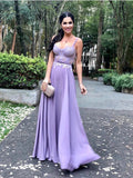Spaghetti Straps Purple Lace Long Prom Dresses,Cheap Prom Dresses,PDY0472