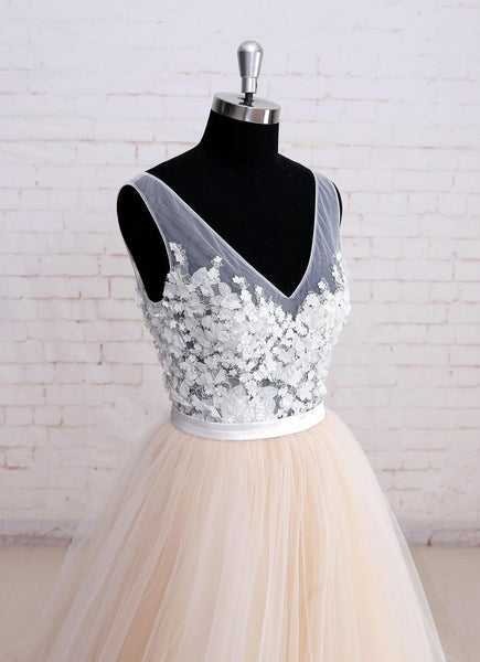 Beautiful High Waist White Strapless Trumpet Lace Applique Wedding Party Dresses,  Bridal Gown, WDY0154