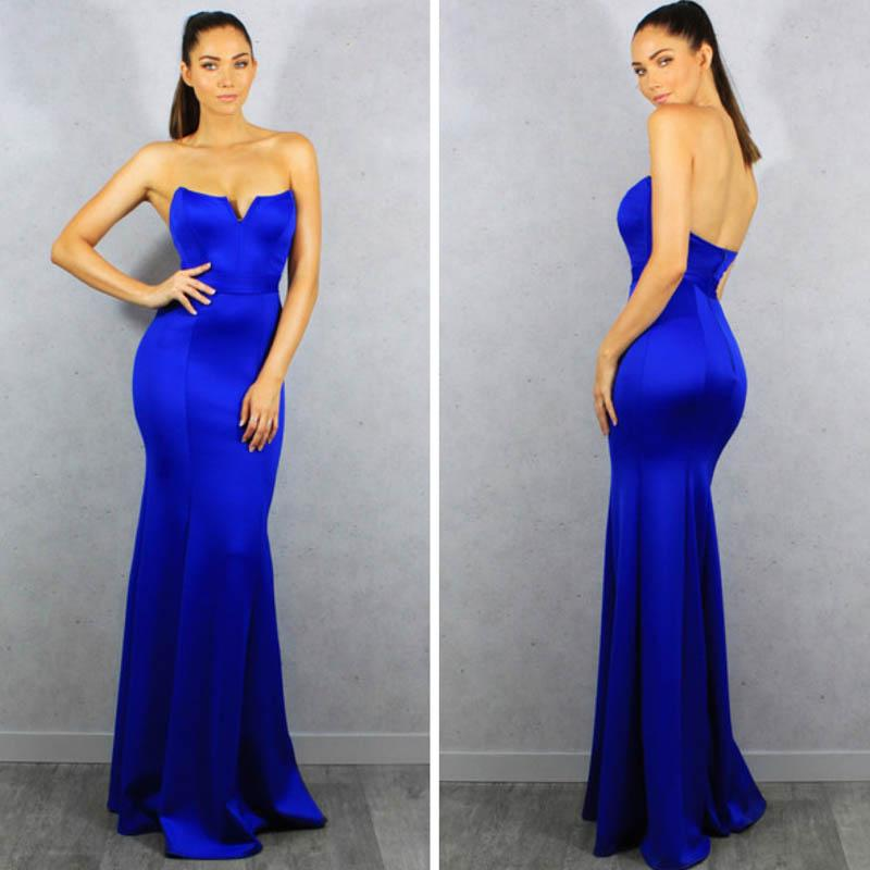 Royal Blue Sexy Sweetheart Mermaid Long Prom Dresses, Formal Evening Dresses, BG0358