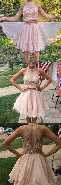 542a713016 Stunning Two Pieces Beading Short Cheap Homecoming Dresses Online ...
