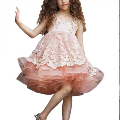 A-line Pink Tulle Short Flower Girl Dresses,Cheap Flower Girl Dresses ,FGY0246