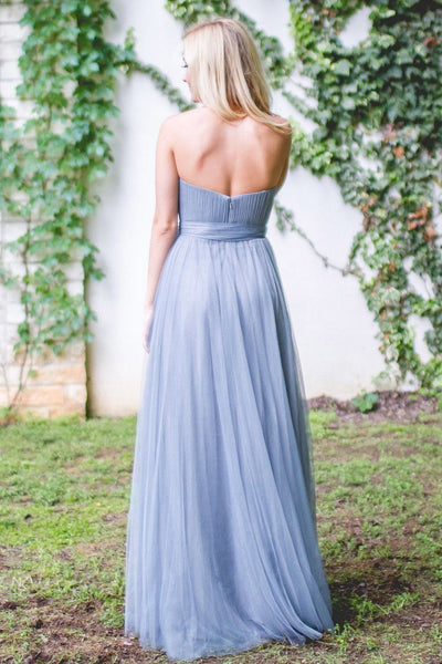 Blue Tulle Bridesmaid Dresses, One-Shoulder Bridesmaid Dresses,Cheap Bridesmaid Dresses,WGY0270