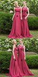 Red Lace Bridesmaid Dresses,High Neck Bridesmaid Dresses,Cheap Long Bridesmaid Dresses,WGY0276