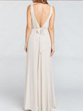 Elegant Long V-Back Chiffon Floor-Length Dress For Wedding Party ,Bridesmaid Dresses,WGY0155