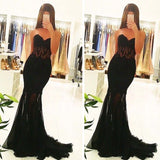 Fashion Sexy  Black Sweetheart Mermaid Party Dress,Custom Made Evening Dress, PDY0221