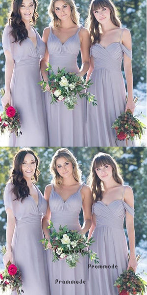 Mismatches Light Purple Chiffon Bridesmaid Dresses,Cheap Bridesmaid Dresses,WGY0406