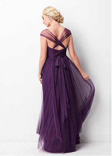 Elegant Different Style Tulle Long Wedding Guest Dresses,Bridesmaid Dresses,WGY0175