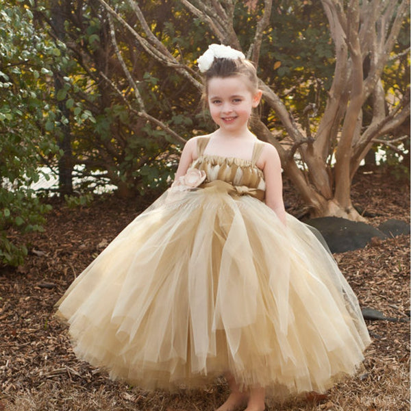 Brown Tulle Pixie Tutu Dresses, Popular Flower Girl Dresses, Free Custom Dresses, FGY0105