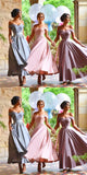 Off-the-shoulder Ankle-length Lace Appliques Bridesmaid Dresses,Chic Bridesmaid Dresses,WGY0258