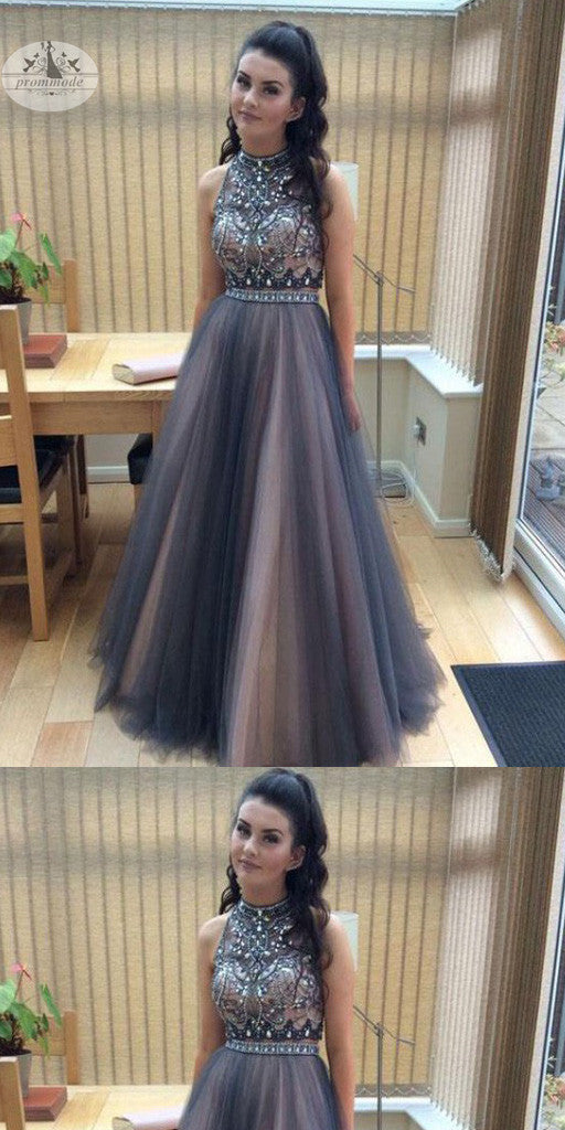 Elegant  A-Line Sleeveless Prom Dress with Beading,Party Dresses, Evening Dresses,PDY0316
