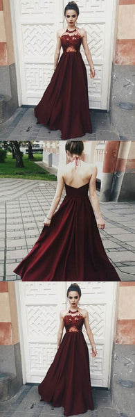 A-line Stain Red Opening back Sexy Prom Dresses, Popular Modest Prom Dress, Fashion Tend, PDY0156