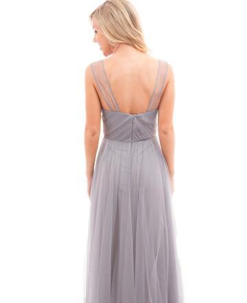 Newest Style Strap Tulle A-line Wedding Guest Dresses, Cheap Bridesmaid Dresses, BG0339
