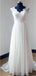 Illusion Sleeveless Organza Beaded Long Wedding Dresses With Beading,Dresses For Wedding Party ,WDY0166
