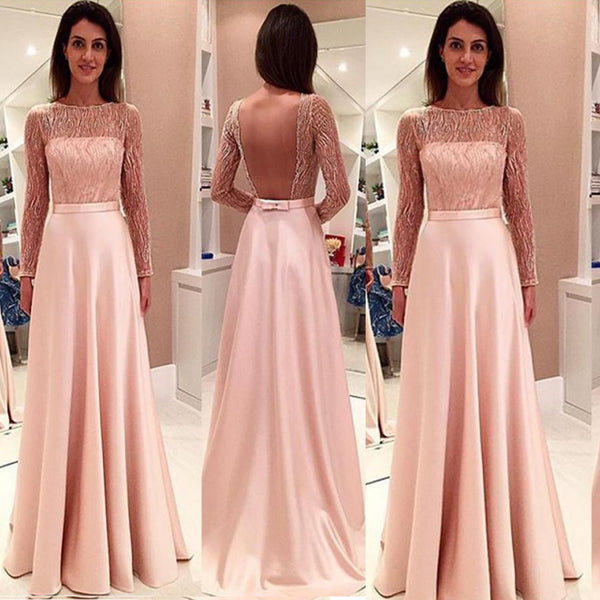 Glamorous Long Sleeveless Open Back Tulle Prom Dress,Evening Dresses,Party Dresses,PDY0328