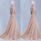 Charming Tulle V-Neck A-Line Evening Dresses With Lace Appliques,Bridal Dress,Party Dresses,PDY0324