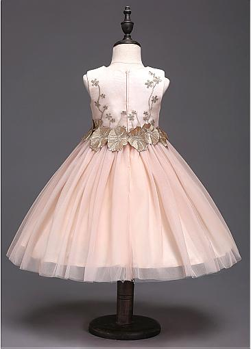 Attractive Satin A-line Pink Tulle Little Girl Dresses ,Flower Girl Dresses ,FGY0176