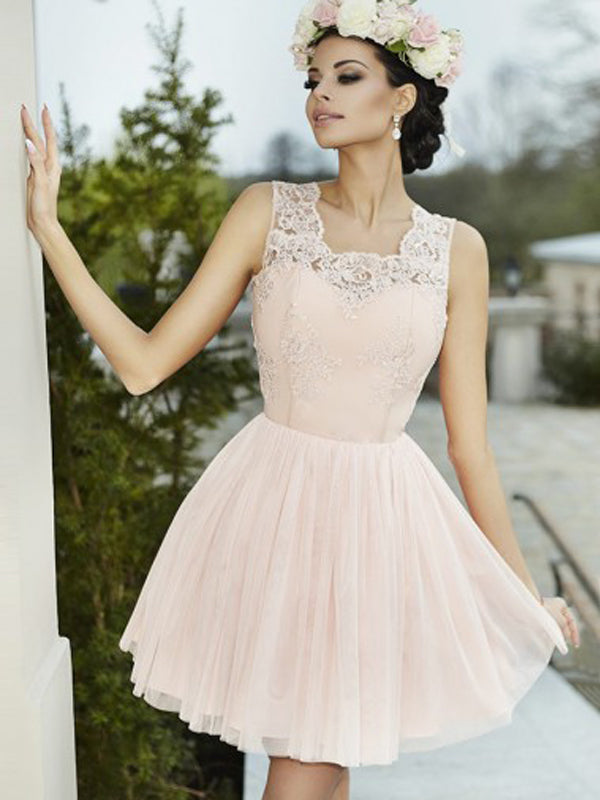 Elegant A-line Halter Lace Homecoming Dresses,Cheap Short Prom Dresses,BDY0237