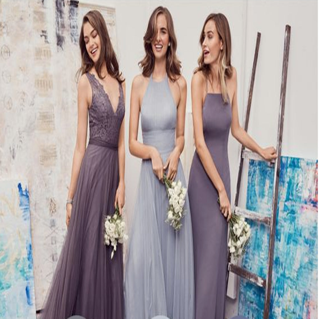 2018 different styles chiffon blush pink modern formal floor 2018 different styles chiffon modern formal floor length cheap bridesmaid dresses wgy0123 ombrellifo Image collections