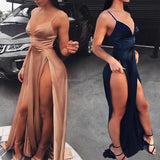 Charming Sexy Spaghetti Straps Fashion New Arrival Split Prom Dress , Evening Dresses, PDY0150