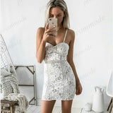 Cheap White Sheath Spaghetti Straps Lace Homecoming Dresses,Short Prom Dresses,BDY0192