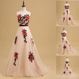 Newest Straight across Print evening dress with trailing, A-line long prom dresses,Evening Party Dress.PDY0245