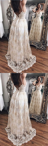 Attractive Lace Princess Backless Evening Gowns,Prom Dresses,Party Dresses,PDY0343