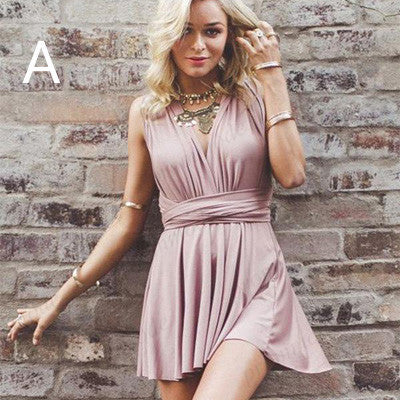 Deep V-neck Satin Blush Homecoming Dresses With Belt,Short Homecoming Dresses,BDY0199