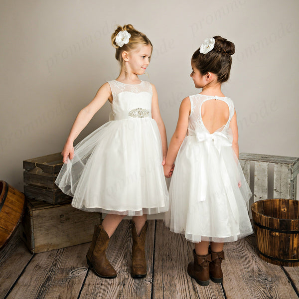 Open Back Dresses for Little Girls