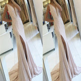 Sexy Backless Side Slit Deep V Neck Mermaid Long Evening Prom Dresses,Evening Party Dress.PDY0244